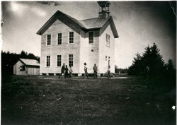Oysterville School circa 1880