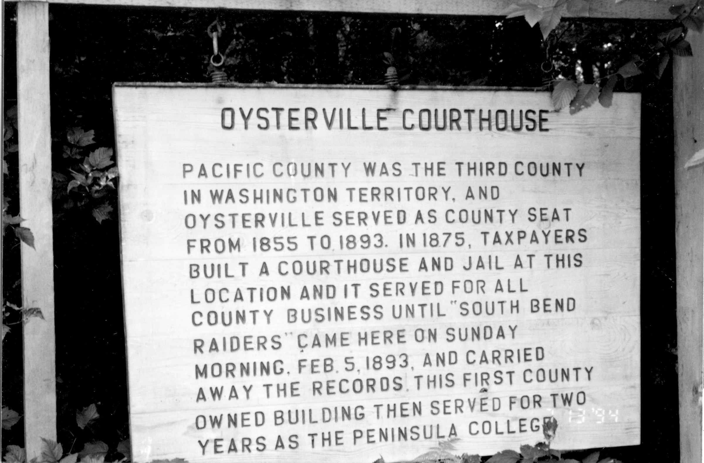 Courthouse Sign 1994