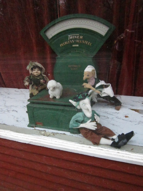 St. Patrick's Window at Oysterville Store