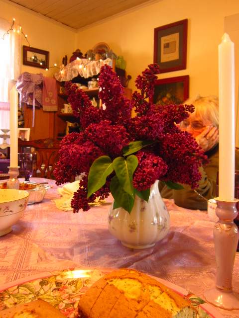Dinner Table Lilacs
