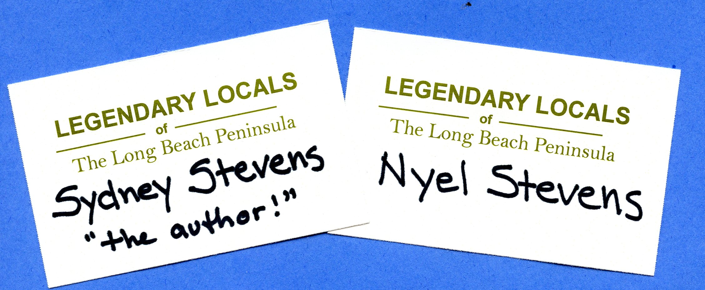 Name Tags, June 29, 2013