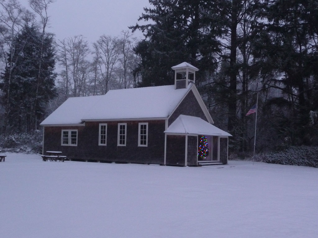 Schoolhouse in the Snow by Tucker