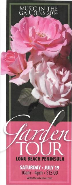 Garden Tour Brochure/Ticket