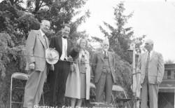 Will Espym Cecil Espy, Dora Espy Wilson, Harry Espy, Charles Nelson at the 1954 Oysterville Centennial