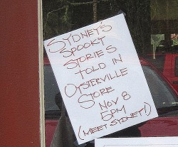 Sign at the Oysterville Store