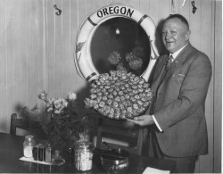 Louis Wachsmuth and Plate of Native Oysters