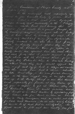1857 Petition, Pasge One