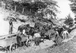 Repair Work on Oysterville Road, 1880s