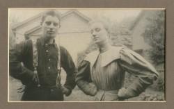Papa and Aunt Dora circa 1896