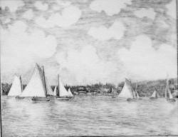 Annual Oysterville Regatta, c. 1870s