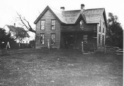 John Crllin House with Stevens Hotel in background, c. 1920