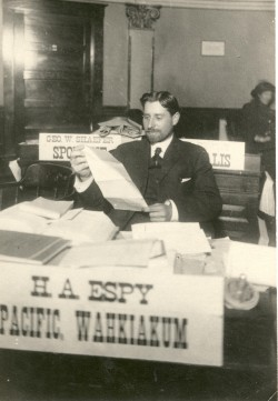 "H. A. Espy (""Papa"") at His Desk in the Senate, 1911"