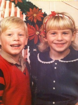 Tiffany Oaks Turner with Brother Jared c. late 1980s