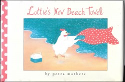 Lotties New Beach Towel by Petra Mathers