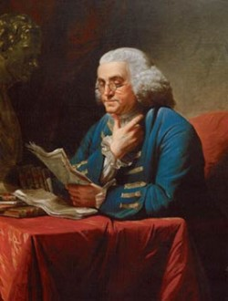 "Ben Franklin, ""the father of modern American news coverage"""