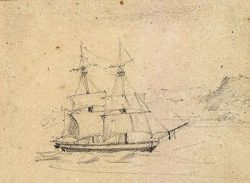USS Peacock , Drawing 1813