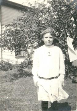 Medora in the Garden c. 1913