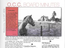 The OCC Newsletter, 4/20/2016