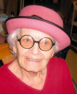 2006 - Mom at 95.  Dress code always: a hat!