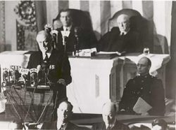 FDR Delivers Pearl Harbor Speech, 12-08-1941