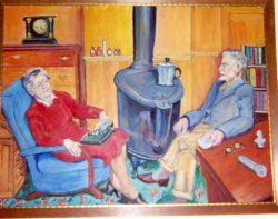 Helen and Harry Espy, 1947 Painting by Hilda Cole Espy