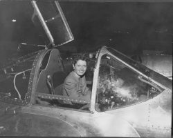 My mom in a P-38 - on a PR Tour, 1944