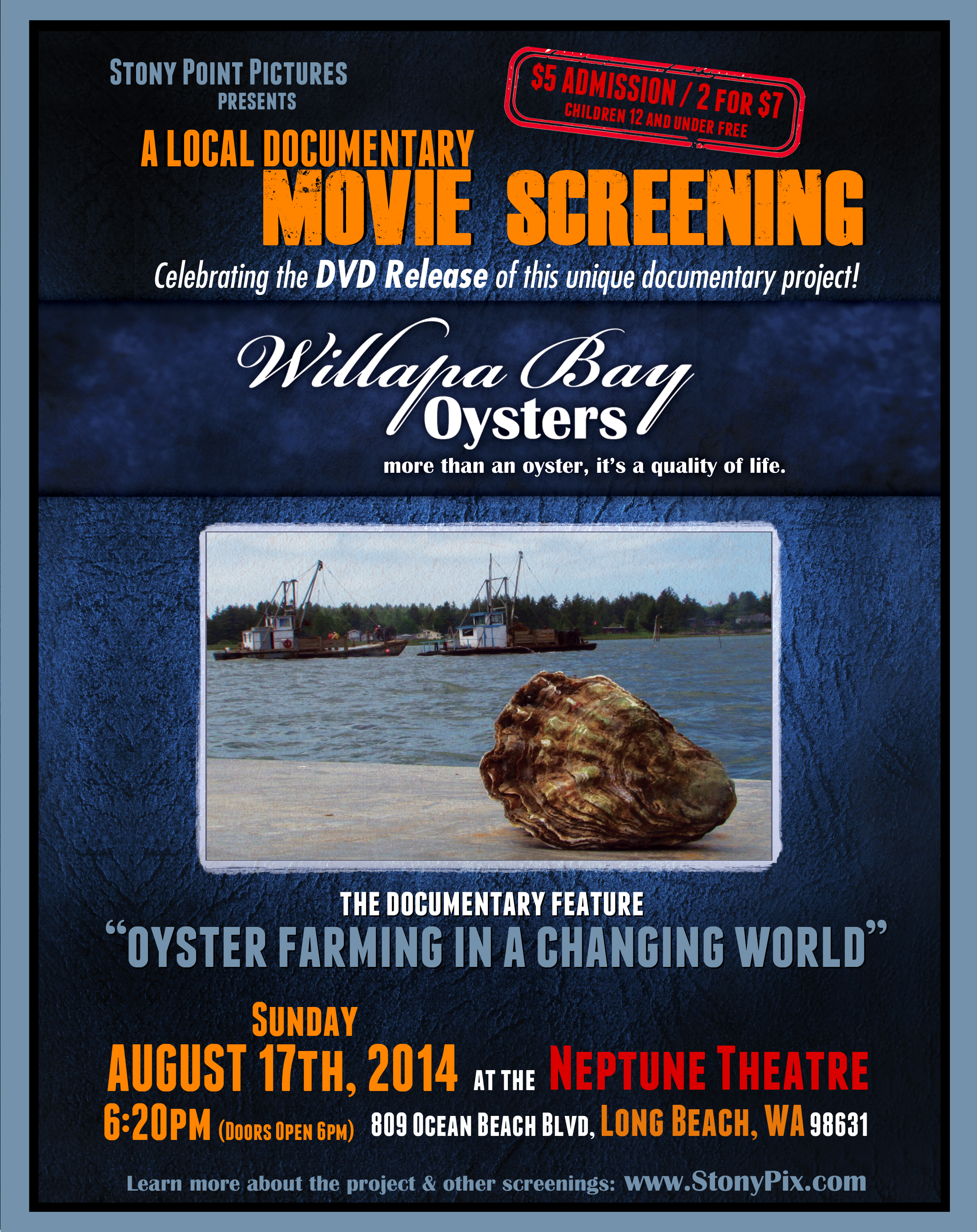 Theater Long Beach The Doentary Features Oyster Farming Oysters Sydney Of Oysterville